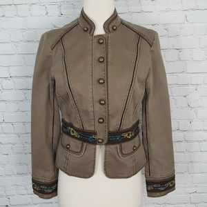 Karen Millen Brown Embroidered Fitted Jacket 6